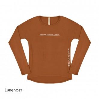 Imagem - Blusa de Malha Crepe Lunender - 1679019_17893-MARROM CUMARU