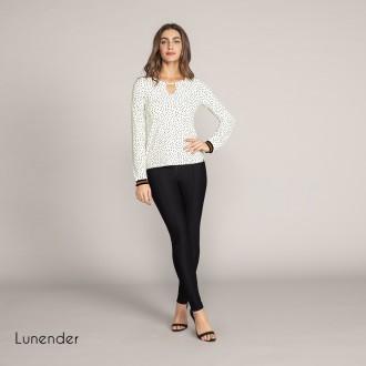 Imagem - Blusa de Malha Crepe Lunender - 1679020_11015-OFF WHITE