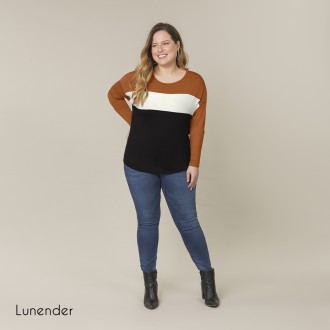 Imagem - Blusa de Malha MVS Lunender - 1679030_17893-MARROM CUMARU