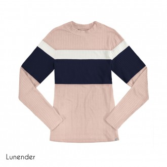 Blusa de Malha Canelada Lunender