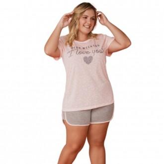Imagem - Pijama Feminino Plus Size - DANKA - 1060061_4549-ROSA-4549-ROSA