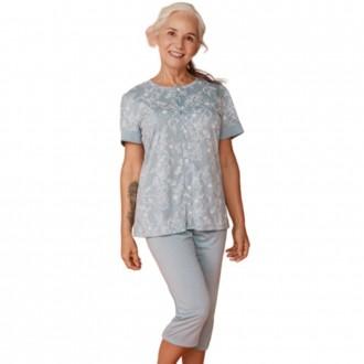 Imagem - Pijama Feminino Aberto Com Calça Pescador De Adulto - DANKA - 1060085_00138-FLORAL-00138-FLORAL