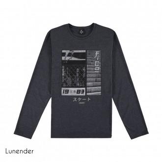 Camiseta de Malha Masculina Lunender