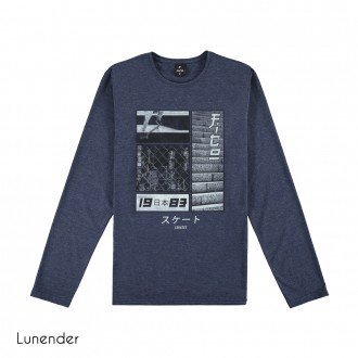 Imagem - Camiseta de Malha Masculina Lunender - 1679032_16062-MARINHO ACTION