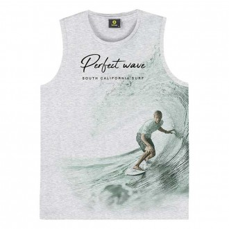 Imagem - Camiseta Regata Masculino Juvenil Lemon - 1532221_0467-MESCLA WHITE