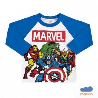 Imagem - Camiseta Vingadores Masculina Infanitl Marlan - 494228_AZ0061-COBALTO