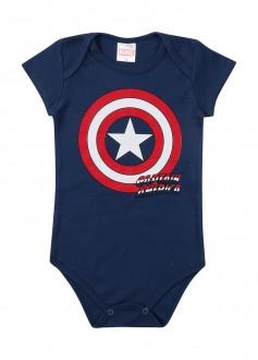 Imagem - Body Masculino Suedine Avengers Para Bebê - MARLAN - 494278_AZ0001---MARINHO