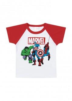 Imagem - Camiseta Masculina Vingadores Para Bebê - MARLAN - 494281_BC0001-BRANCO-BC0001-BRANCO