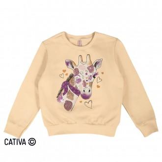 Blusão de moletom girafa - CATIVA