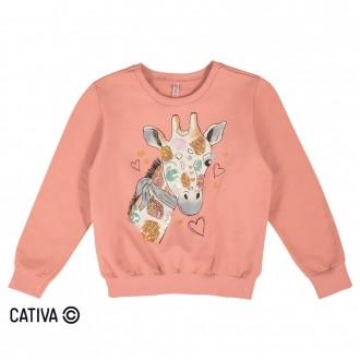 Imagem - Blusão de moletom girafa - CATIVA - 10681_3390-LARANJA