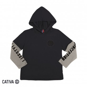 Camiseta C/ Capuz Masculino Infantil Cativa