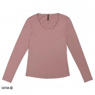 Blusa de cotton básica - CATIVA