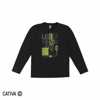 Imagem - Camiseta Meia Malha Juvenil Cativa - 10653_9003-PRETO