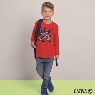 Imagem - Camiseta Meia Malha Masculina Cativa - 10656_4827-VERMELHO