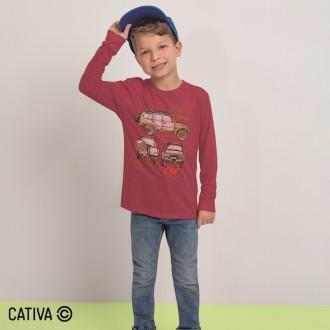 Imagem - Camiseta Meia Malha Masculino Cativa - 10658_4771-VERMELHO