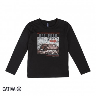 Imagem - Camiseta Meia Malha Masculina Cativa - 10666_9003-PRETO