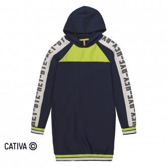 Imagem - Vestido de molecotton - CATIVA - 10682_6022-MARINHO-6022-MARINHO