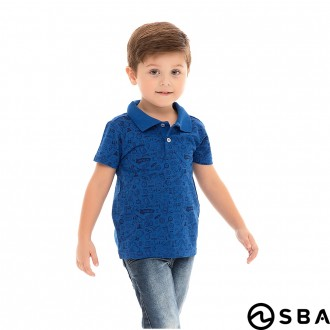 Imagem - Camiseta Polo Masculino Bebe  World Blue - SBA - 388691_12-ROYAL