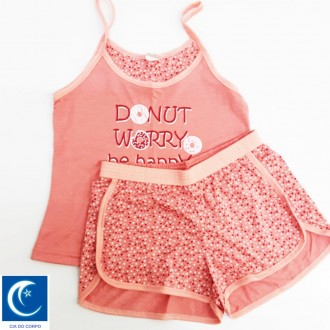 Conjunto babydoll drems - Cia do corpo