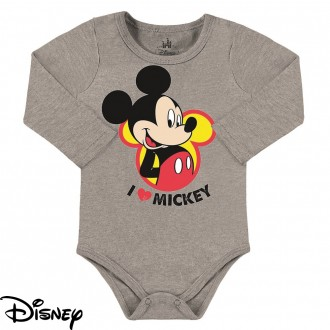 Body Mickey Masculino em Cotton Disney - Marlan