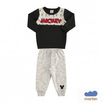 Imagem - Conjunto Mickey Moletom Masculino Infantil Marlan - 494224_PT0001-PRETO