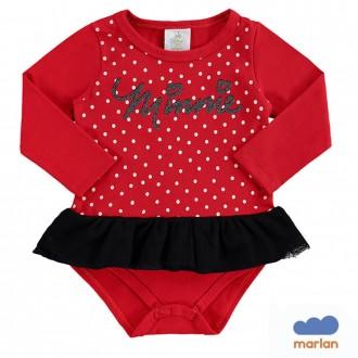 Imagem - Body Cotton C/ Tiara Miney Disney Marlan - 494217_VR0031-TOMATE