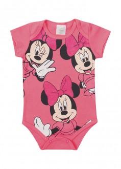 Body Suedine Feminino Minnie Para Bebê - MARLAN