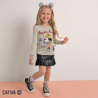 Imagem - Blusa de Viscose Feminino Disney - Cativa - 10669_1140-MESCLA