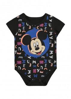 Body De Cotton Masculino Mickey Para Bebê - MARLAN