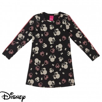 Imagem - Vestido de Cotton Feminino Infantil Disney - Cativa - 10679_9003-PRETO