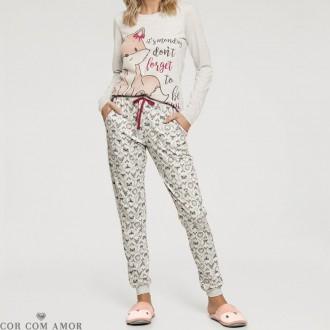Imagem - Conjunto de Pijama de Malha Cor com Amor - 965283_10511