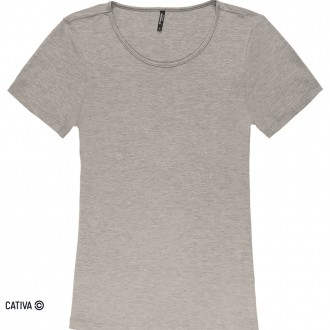 Blusa básica de viscose - CATIVA;