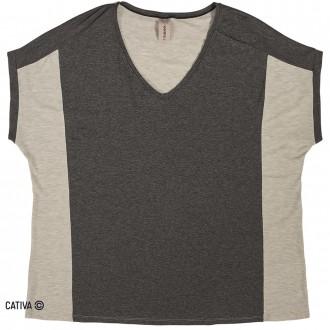 Blusa manga curta de viscose - CATIVA
