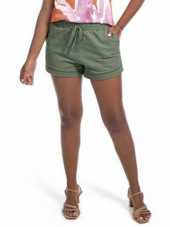 Imagem - Shorts Feminino Adulto De Moletom Com Bolsos - Habana - 584784_7611--VERDE MILITAR