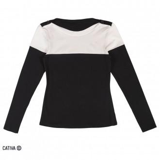 Imagem - Blusa de cotton - CATIVA - 584672_9003-PRETO