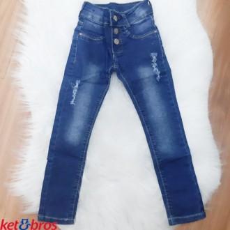 Imagem - Calça Jeans Feminino Infantil Ket Bros - 1008401_JEANS-JEANS