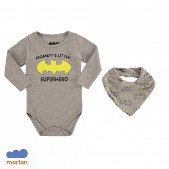 Imagem - Body Batman Masculino Cotton Marlan - 494150_CZ0017-MESCLA