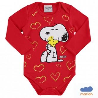 Imagem - Body Snoopy Feminino Infantil Penuts - Marlan - 494247_VR0031-TOMATE