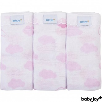 KIT C/ 03 Panos de Boca Estampado Baby Joy