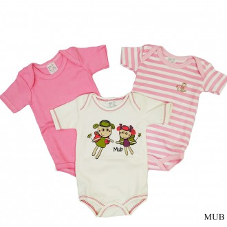 KIT C/ 03 Body Infantil SORTIDO MUB