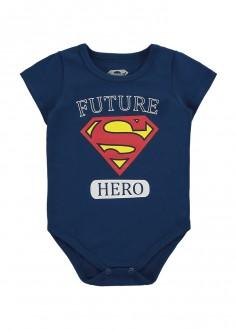 Imagem - Body De Cotton Masculino Super Man Para Bebê - MARLAN - 494250_AZ0001---MARINHO