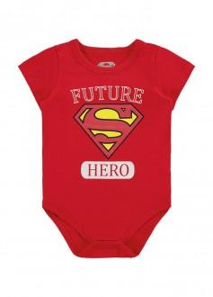 Body De Cotton Masculino Super Man Para Bebê - MARLAN