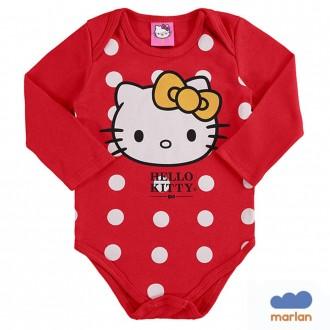 Imagem - Body em Sudiene Hello Kity Feminino Infantil Marlan - 494221_VR0031-TOMATE