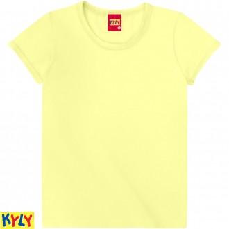 Imagem - Camiseta Basica Cotton Feminino Juvenil - Kyly - 1031934_2333-AMARELO MELAO