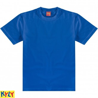 Imagem - Camiseta Basica  Meia Malha Masculino Infantil - Kyly - 1031596_6824-AZUL COBALTO