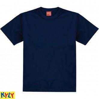 Imagem - Camiseta Masculina Meia Malha Básica Juvenil-Kyly - 1031935_6826-MARINHO