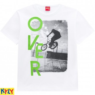 Imagem - Camiseta Masculina Malha Juvenil-Kyly - 1031979_0001-BRANCO