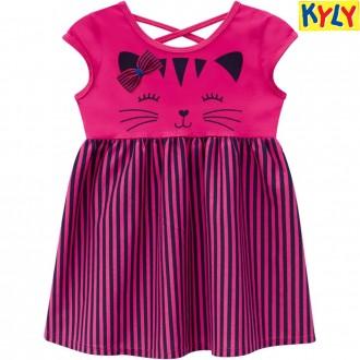 Vestido Malha Feminino Infantil Kyly