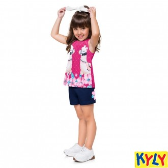 Imagem - Conjunto Feminino Infantil Regata Kyly - 1532047_40064-ROSA