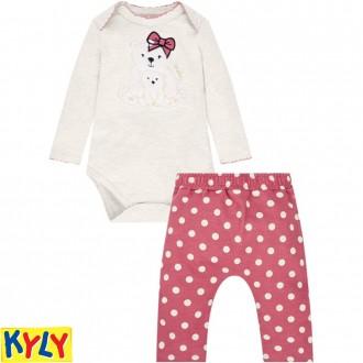 Imagem - Conjunto Body Feminino Infantil Moletinho Kyly - 420921_0460-MESCLA GELO